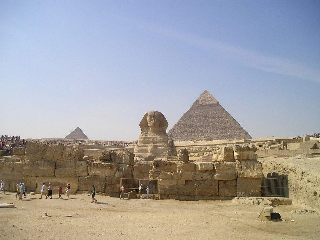 egypt, sphinx, pyramids