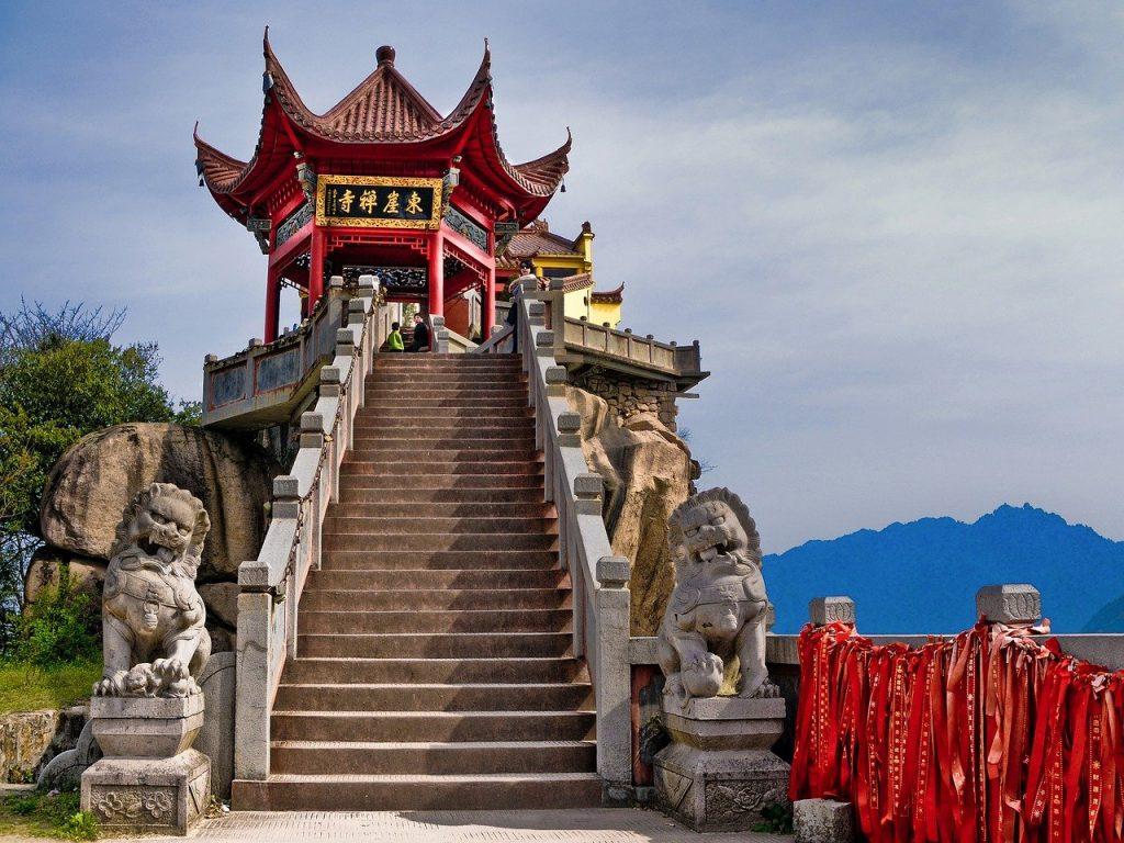 temple, buddhism, china